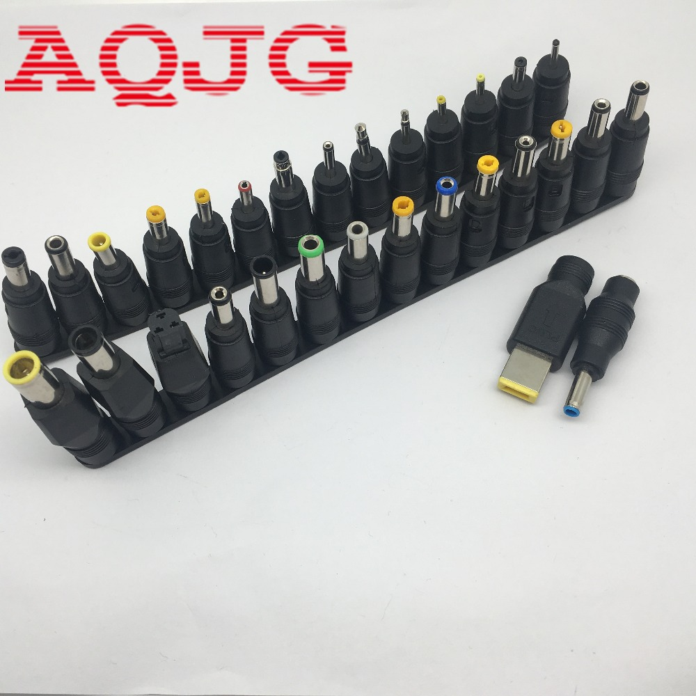 цены 30pcs/Set Universal DC Power Supply Adapter Connector Plug DC conversion head DC jack  For laptop Computer AQJG