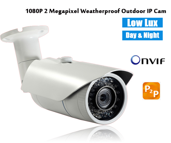 HD 1080p 2MP outdoor IP Camera P2P ONVFI network CCTV Cameras for home security systems support iphone andriod app mobile review top 10 cctv cameras 2mp 1080p hd ip security camera p2p ip network camera varifocal len made in china security camera