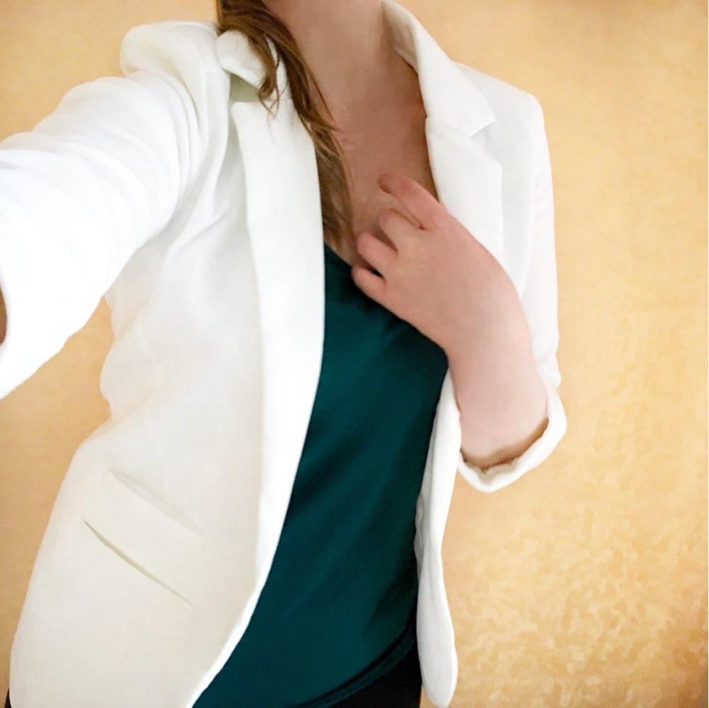 2018 spring Women s 7 Colors Notched Office Work Open Front Blazer Outfits Candy Color C ...