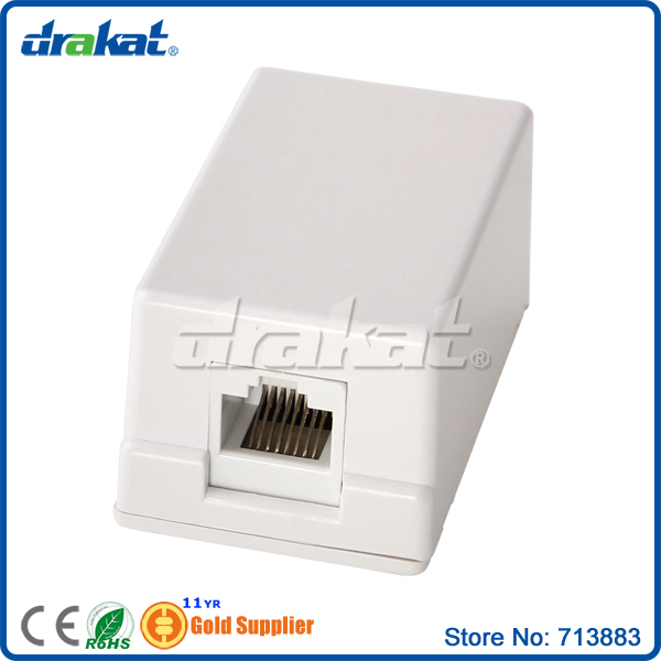1 port Network RJ45 Cat5e Surface Box
