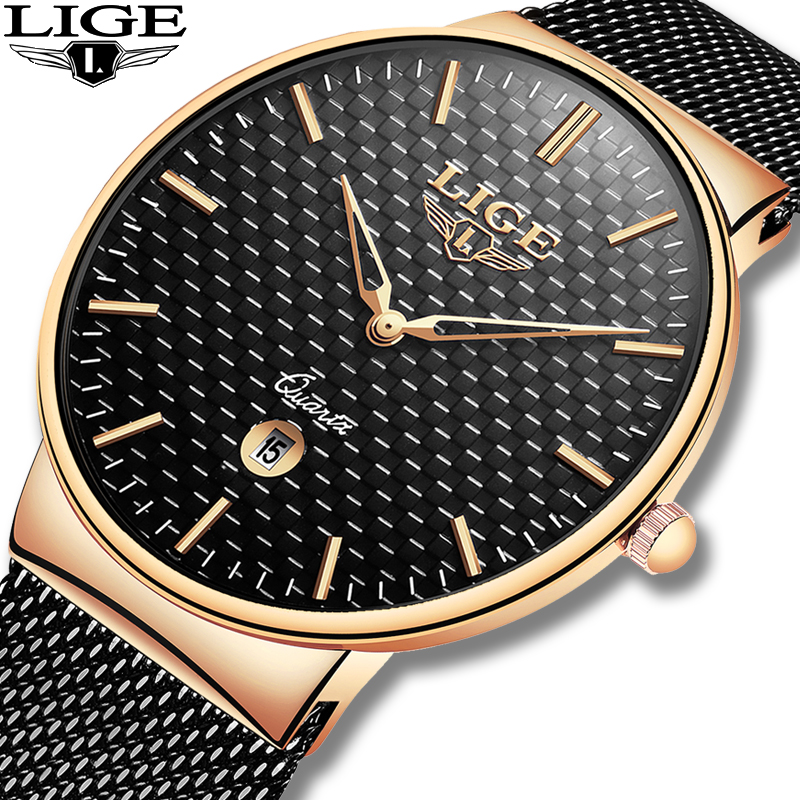LIGE Fashion Luxury Brand Women Quartz Watch 5