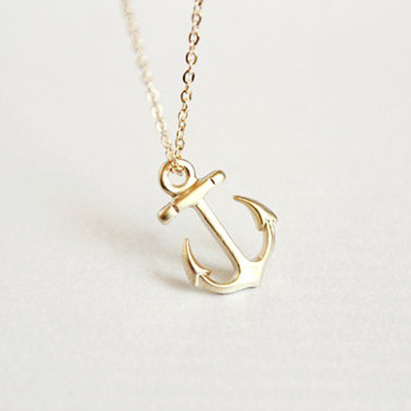 2016 Fashion Hot Dainty Gold Anchor Pendant NecklacesBrand Nautical Anchor Charm Long Corrente De Ouro Necklace In My Orders