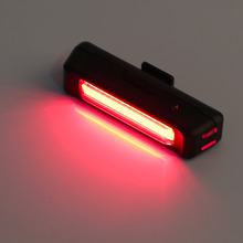 USB Rechargeable Bike Bicycle Light Rear Back Safety Tail Red New free shipping shhipping