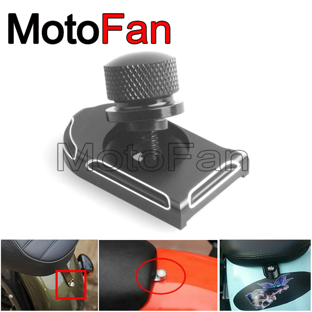 Motorcycle Rear Seat Bolt Tab Screw Mount Knob Cover Nut Black Aluminium For harley davidson parts Sportster 1200 883 Roadster ювелирное изделие 01k124861