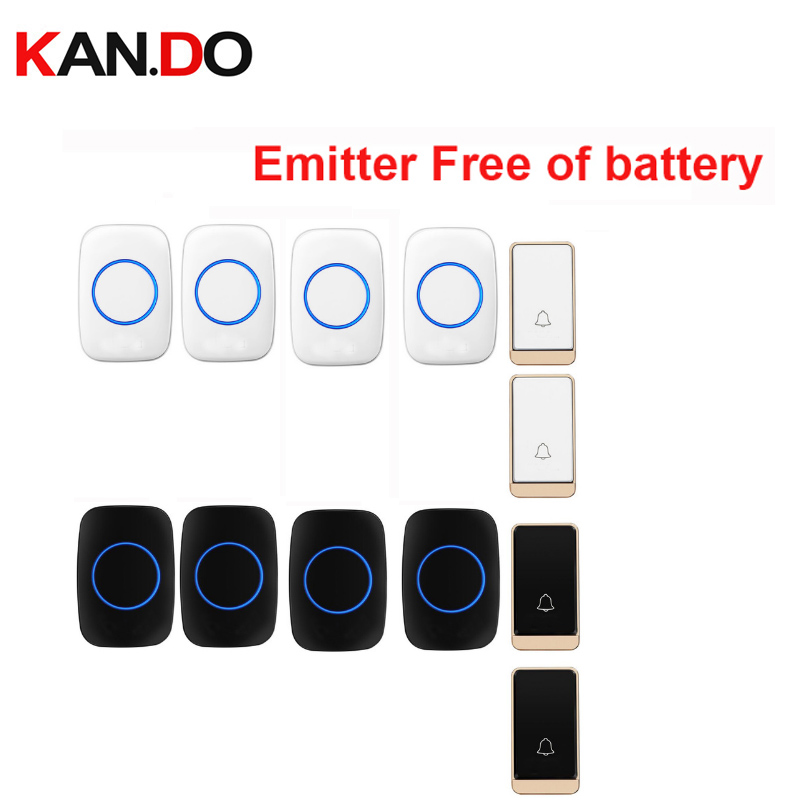HOT wireless door bell set 2 push 4 rings free of battery wireless doorbell ip44 200M work door chime door ring 110-240VHOT wireless door bell set 2 push 4 rings free of battery wireless doorbell ip44 200M work door chime door ring 110-240V