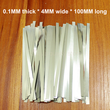 100g/bag Spot welding battery connection nickel plate 18650 plated steel strip 0.1MM thickness *4MM wide