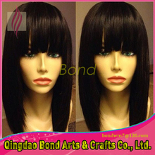 Cheap Glueless Full Lace Human Hair Wigs For Black Women Virgin Brazilian Lace Front Human Hair Straight With Bangs