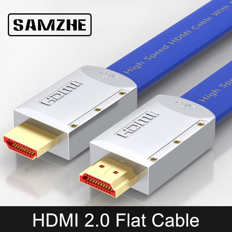 HDMI2.0 SAMZHE HDMI al Cavo HDMI Piatto Cavo Maschio a Maschio 4 K * 2 K 18 Gbps Supporta Ethernet, 3D, 4 K Video per HDTV PS3/4
