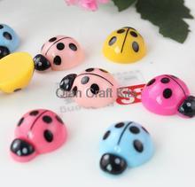 Set of 100pcs mixed color polka dot Ladybug resin flatback cabochons (20x15x7mm) Cell phone decor, hair accessory DIY sz0942