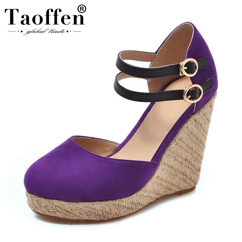 TAOFFEN 5 Colors Round Toe 2019 New Spring Young Sandals Buckle Platform Dancing Party Club High Heel Shoes Women Size 34-43TAOFFEN 5 Colors Round Toe 2019 New Spring Young Sandals Buckle Platform Dancing Party Club High Heel Shoes Women Size 34-43