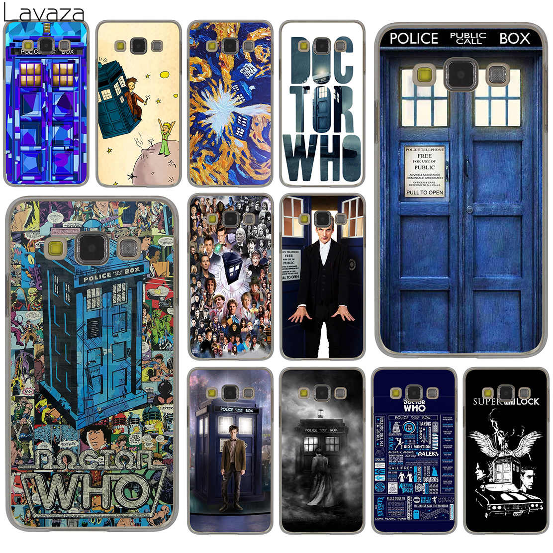 Lavaza Doctor who tardis artwork blue Hard Case for Samsung Galaxy S10 S10E S8 Plus S6 S7 Edge S9 Plus Phone Cover