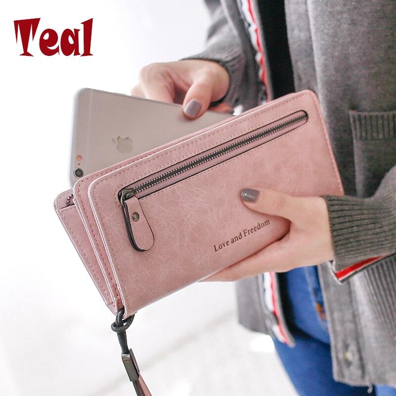 2017 Hot Fashion Women Bag Women Wallet Pu Leather Casual Clutch Luxury Zipper Coin Purse Multifunction