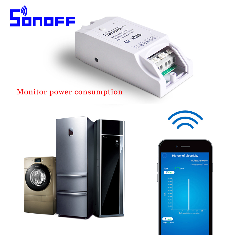 imágenes para Sonoff Pow Módulo Domótico Inteligente Temporizador Universal Diy Conmutador Inalámbrico A Través de IOS Android