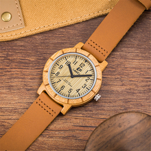 Leeev Bamboo Wood Watch for Men Women Fashion Casual Leather Strap Wooden Wrist Watch Male Relogio EV1875TX