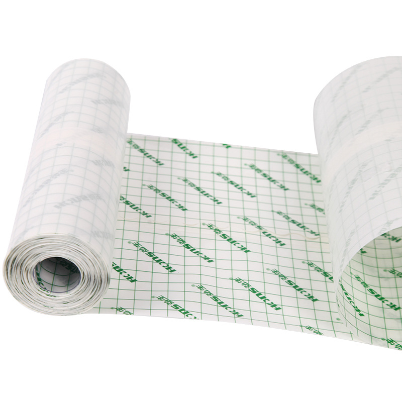 Medical PU Waterproof Adhesive Tape Anti-allergic Medicinal Membrane First Aid Wound Dressing Transparent  Fixation Tape (L:10M)