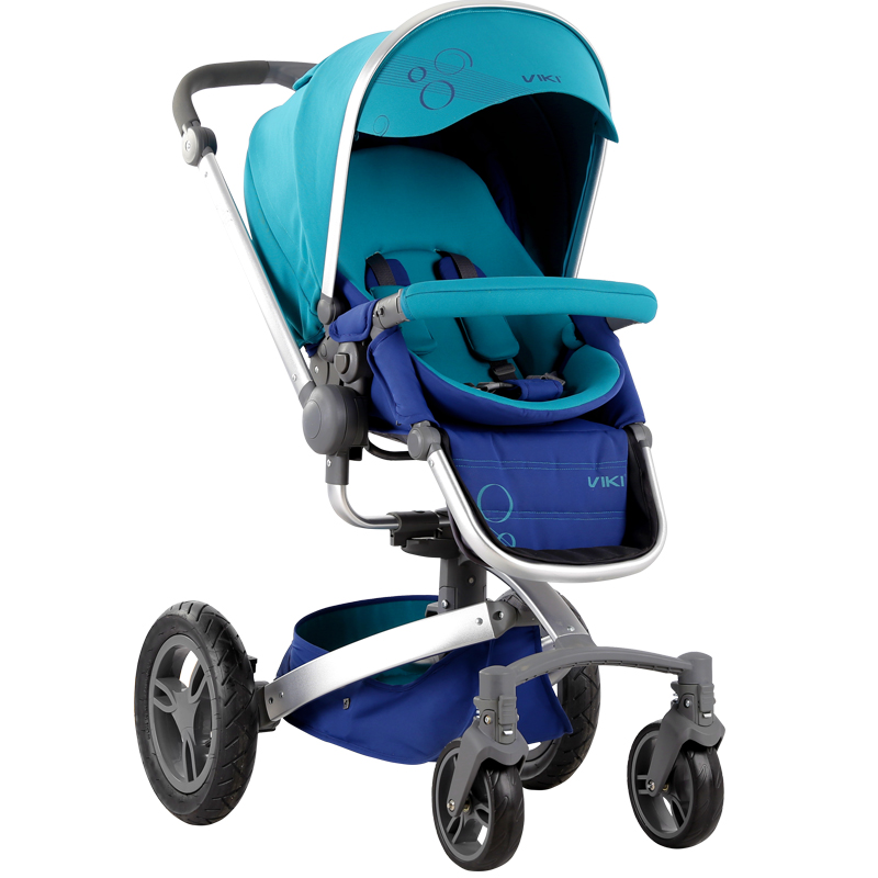VIKI High Quality 360 Degree Rotation Baby Stroller, 4 Wheel Suspension Pushchair, Folding Baby Carriage Can Sit & Lie high quality odm 96teeth xh timing wheel