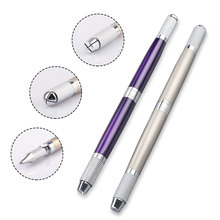 купить Professional Microblading pen for permanent make up machine Manual eyebrow pen Makeup tattoo kit 3 in 1pc по цене 119.19 рублей