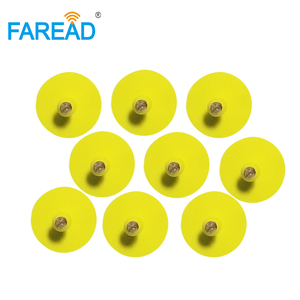Image 2 - x150pcs free shipping ISO11784/85 round male tag FDX B ear tag for animal livestock management