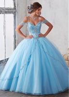Vestidos De 15 Anos Bead Tulle Ball Gown Quinceanera Dresses 2017 Cheap Quinceanera Dresses Sweet 16