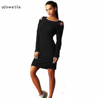 Woweile High Quality Winter Fall Women S Long Sleeve Casual Evening Party Dress Super Deal Hot