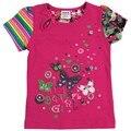 Chica camiseta novatx marca bebé lindo t shirt verano estilo causal ropa de niña con la flor impresa camiseta de los niños camisas
