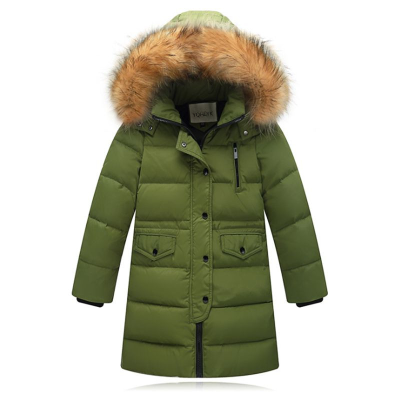 цена на Children Down Jacket 2018 New Winter Girl Coat Thick Warm Boys Overcoat Children Clothes Casual Fashion Kids Parka Clothing W305