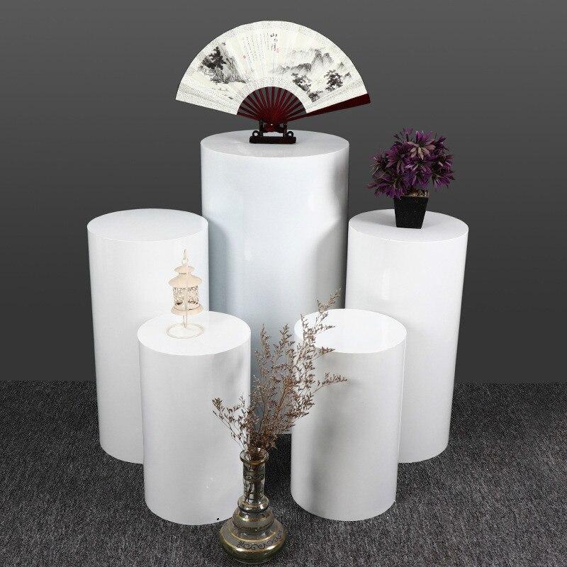 Wedding dessert table set wrought iron cylinder shelf wedding mall stage layout decoration display stand