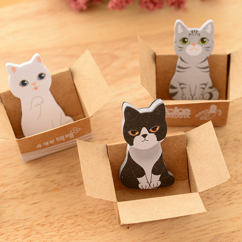 Kawaii Sticky Notes Cat Office Supplies Planner Stickers Cute Korean Stationery Sticker Diary Post It Diy Note Cancelleria In Memo Pads From School