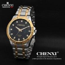 CHENXI Marca Moda Reloj de ORO de Los Hombres Vestido de Reloj de Cuarzo Analógico Reloj de Pulsera Hombres Del Deporte Militar Hombres Reloj de ORO Masculino Del Relogio