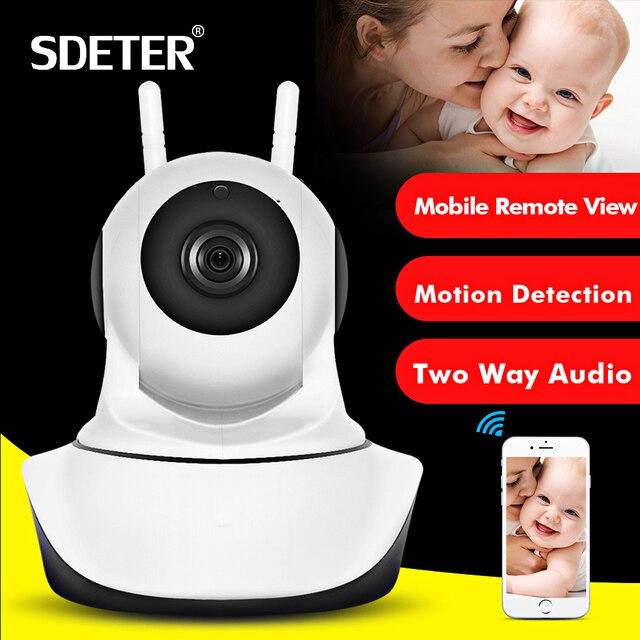SDETER 1080 P 720 P Cámara cámara IP WIFI Cámara mascotas inalámbrica cámara de seguridad CCTV enchufe y P2P noche versión cámara interior IP