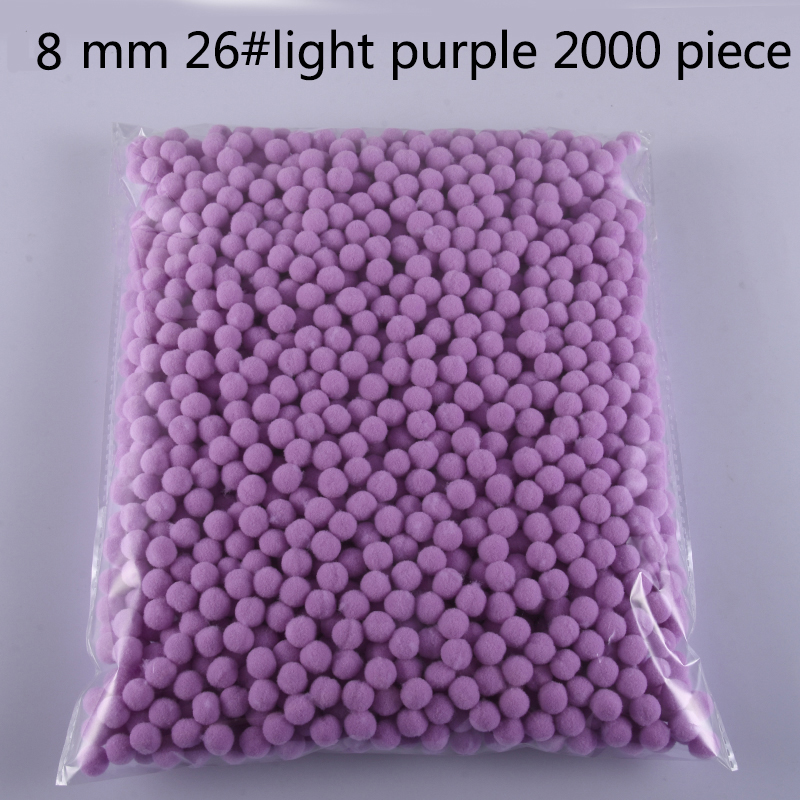 Wholesale 8mm Pompoms 2000 Pcs Soft Pom Poms Fur Balls Sewing on Cloth Fabric Supplies Arts Crafts DIY Wedding Decor Accessories in DIY Craft Supplies from Home Garden