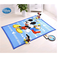 Disney Cartoon Blue Mickey Mouse Minnie Mouse Winnie Princess 1 Year Baby Girls Boys Crawling Game Rug Carpet Mat 100% Cotton
