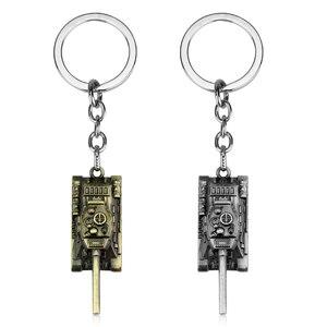 dongsheng World of Tanks WOT Hot Game 3Colors Metal Tank Key Ring Keychain Pendant Gift -50(China)