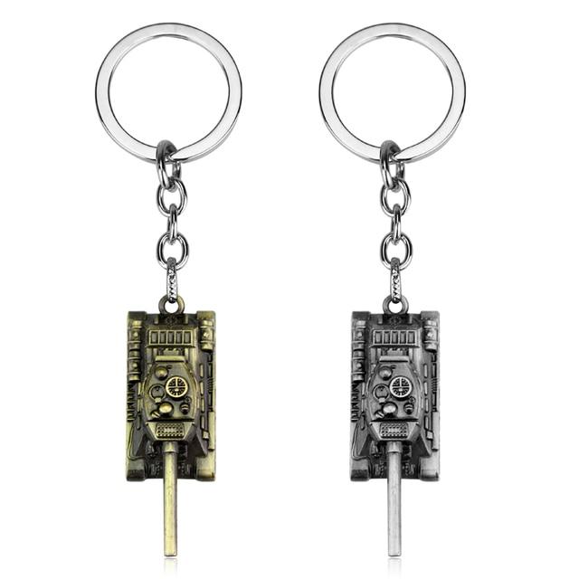 dongsheng World of Tanks WOT Hot Game 3Colors Metal Tank Key Ring Keychain Pendant Gift -50
