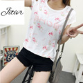 2017 New Summer Women's  Printing T-shirt  O-Neck  Comfortable Fabric Clothing  Loose Short Top Causal For the Lady Fashion Tee