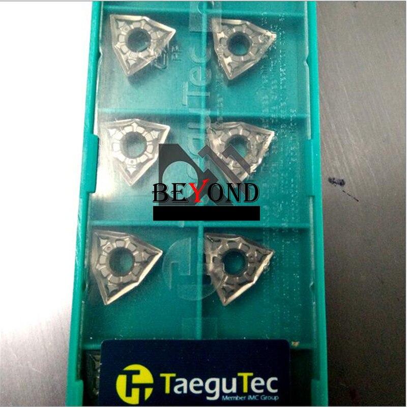 TaeguTec WNMG060404-FG CT3000 Lathe Cutter WNMG 060404 Lathe Tools Carbide Inserts Turning Tool CNC Torno De Bancada