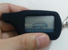 LCD de $ number vías de Control Remoto Llavero con LOGO + Llave de Silicona Cubierta de la caja La Versión Rusa de Dos Vías Sistema de Alarma Del Coche Starline A91