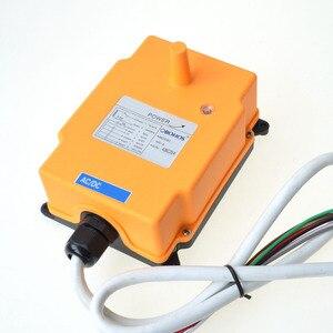 Image 3 - 220VAC 6 Channels 2 Transmitters 1 Speed Control Hoist Crane Radio Remote Control System