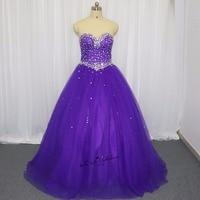 Vestidos de 15 Anos Púrpura Vestidos de Quinceañera 2018 vestido de Bola Dulce 16 Vestidos de Las Niñas Vestidos de Quinceañera Barato Más El Tamaño Real
