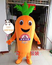Vegetables Theme Carrot Mascot Costume Role Playing Cartoon Clothing Adult Size for Halloween Party Event Advertising Dress все цены
