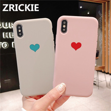 ZRICKIE Silicone Case for iPhone X XR XS Max Cute Love Heart Pattern Soft Back Cover for iPhone 6 6S 7 8 Plus Silicone Fundas стоимость