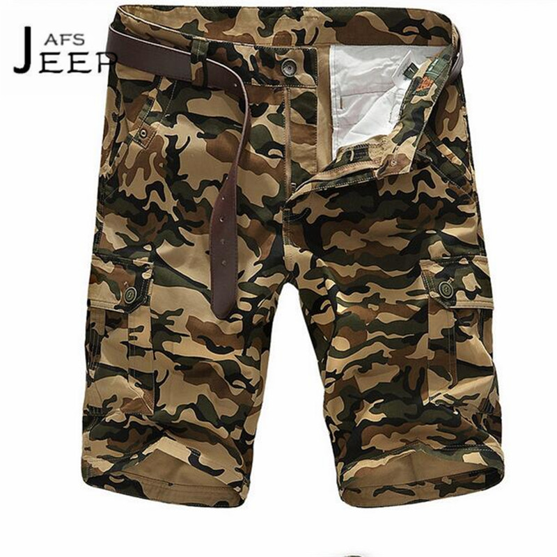 JI PU 4XL to M Summer Mans Camouflage Printed Military Style Cotton made brand Shorts khaki army green new style brand short