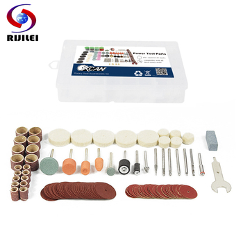 RIJILEI 105Pcs BIT SET SUIT MINI DRILL ROTARY TOOL & FIT DREMEL Grinding,Carving,Polishing tool sets,grinder head Abrasive Disc rijilei 136pcs dremel rotary tool accessory attachment set kits grinding sanding polishing sander abrasive for grinder