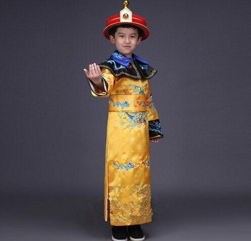 De qualité supérieure chine garçons empereur chinois costume costumes anciens chinois prince robe de la dynastie