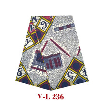6yards/piece!2019 new arrival 100% cotton African wax cloth african dutch block ankara V-L 236