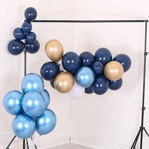 Image 5 - 30 個 5/10/12 インチインクブルーラテックス風船ダークブルーヘリウム気球誕生日結婚式の装飾パーティーバルーン用品グロボス