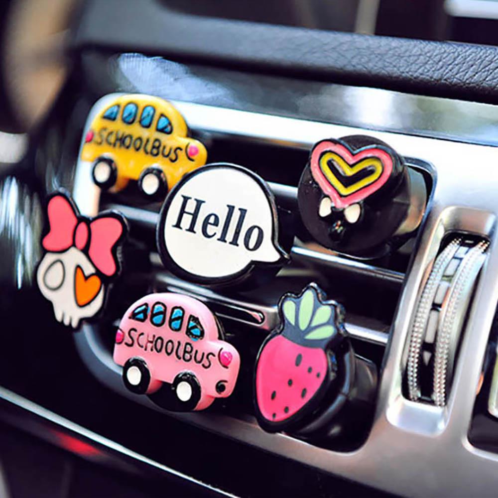 Car Ornaments Cute Air Conditioning Vents Perfume Clip Air Freshener Auto Interior Decoration Creative Fragrances Accessories