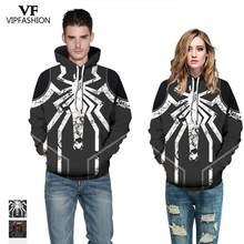 b549217d53 Mode VIP 2019 meilleure vente Halloween Style femmes sweat-shirt 3d imprimé  Marvel Spider homme