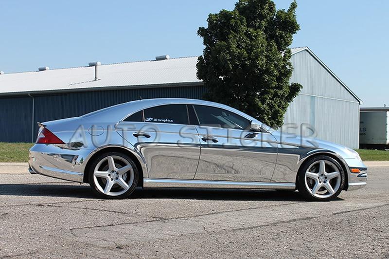 Le plus récent miroir extensible haute argent Chrome miroir flexible vinyle feuille d'enveloppe rouleau Film voiture autocollant décalcomanie taille: 1.52*20 M/rouleau - 4