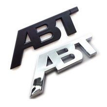 1Pcs ABT Plastic ABS Plating Chrome Black Sticker Emblem Badge Decals For VW S6 S8 A6 A8 Car Auto Body Side Rear Trunk Lid